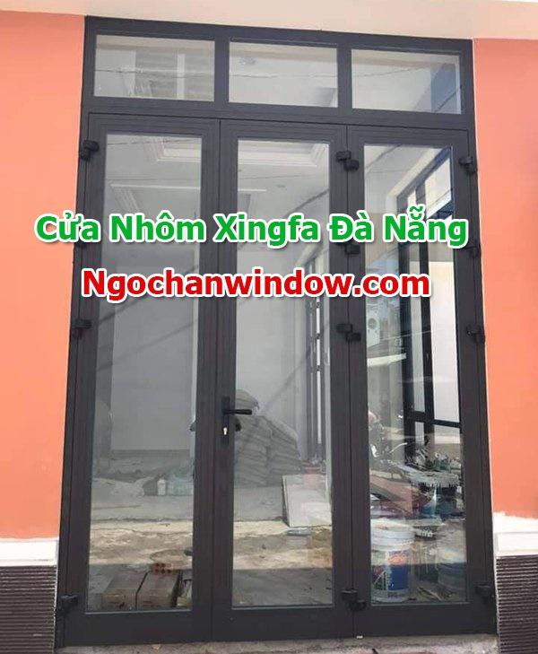 Mẫu cửa nhôm Xingfa màu ghi, màu đen đẹp mới nhất